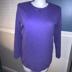 🚨Woman Within purple thermal shirt size 14/16